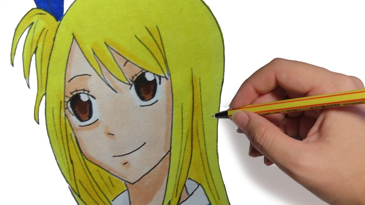 Fairy Tail Para Colorear: COMO DIBUJAR ANIME LUCY HEARTFILIA DE FAIRY TAIL: Aprende