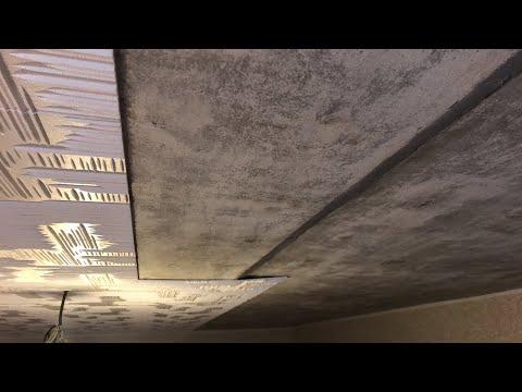 Как наклеить потолочную плитку на неровный потолок видео