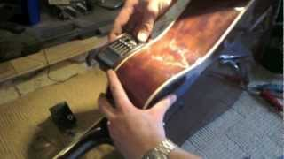 How to install piezo pickup and preamp into acoustic guitar(How to install a piezo pickup and preamp into an acoustic guitar - - - - - - - - - - - - Due to factors beyond the control of FixItSam, it cannot guarantee against ..., 2012-08-20T23:15:39.000Z)