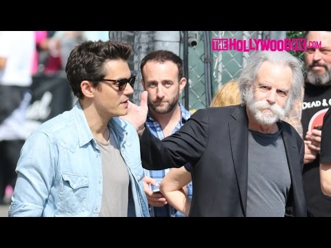 John Mayer & Bob Weir Arrive To Soundcheck At Jimmy Kimmel Live! Studios With Dead & Company 5.10.16