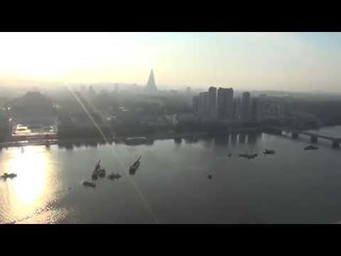 Uitzicht over Pyongyang vanaf de juche tower 1