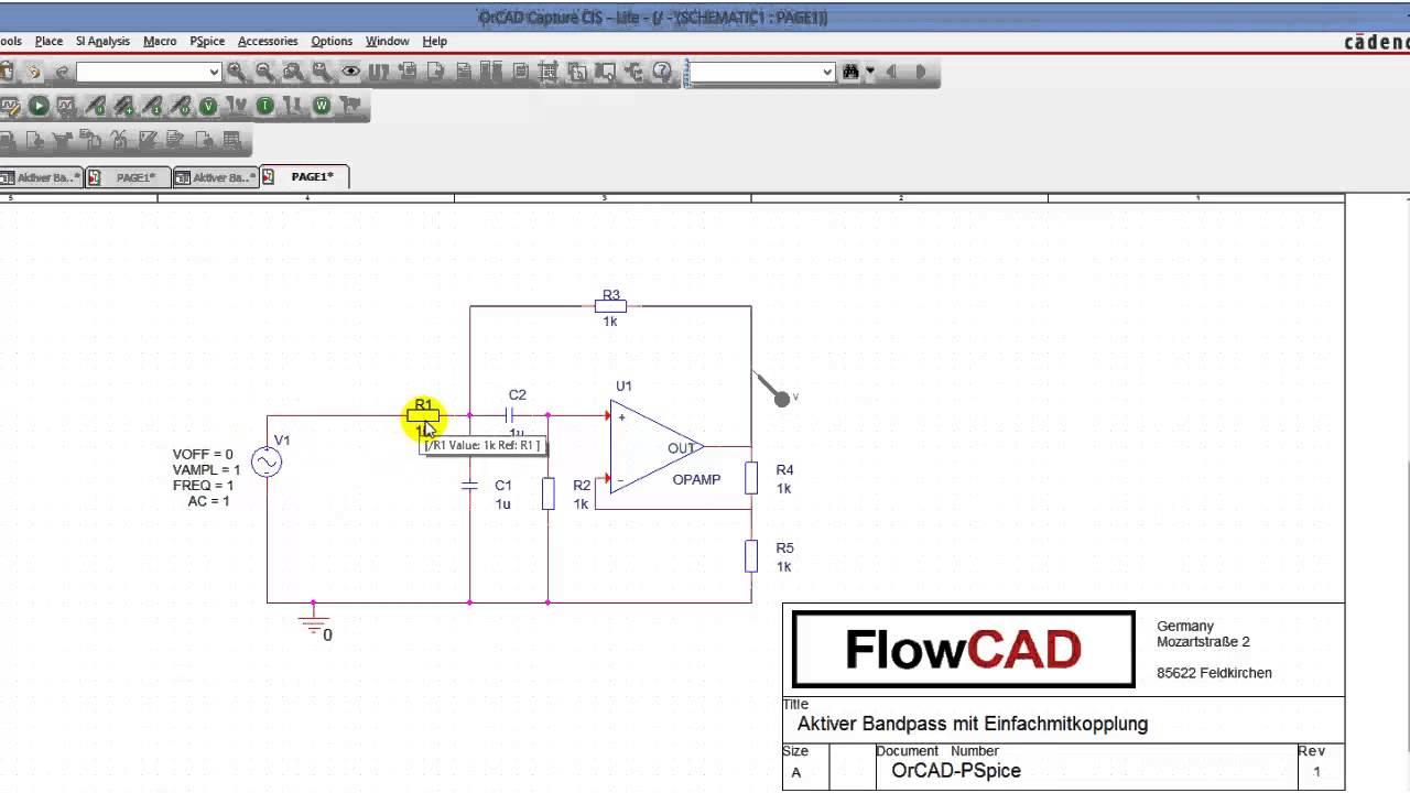 Aktiver Bandpass Filter Mit Einfachmitkopplung Tutorial Youtube Multiple Feedback