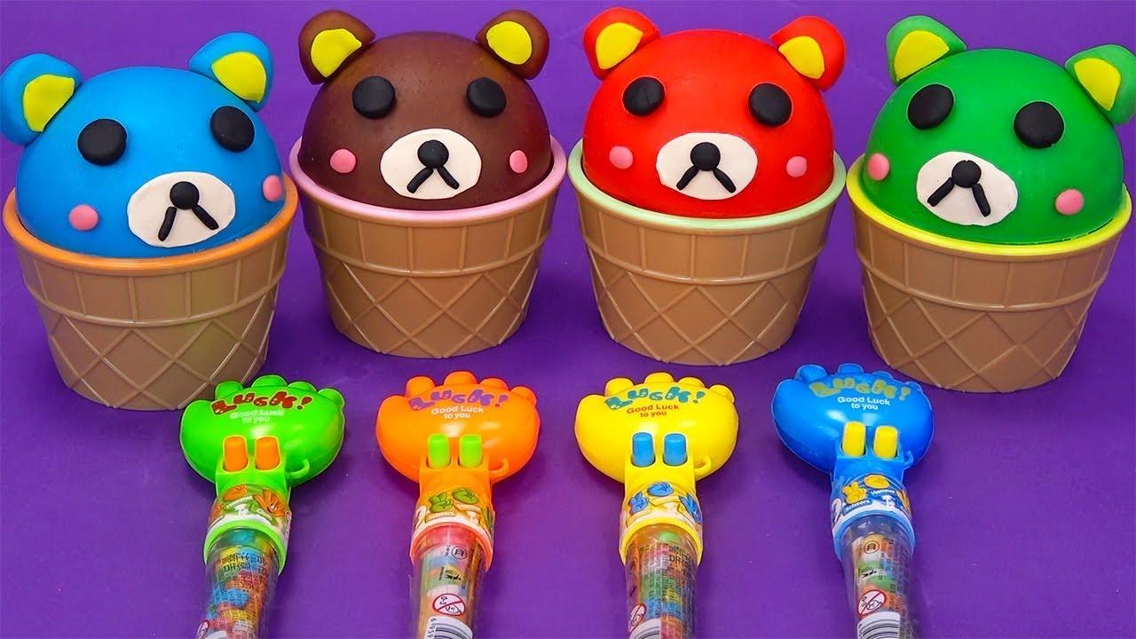 英語で色を学ぶ サプライズエッグ❤トイバス(ToyBus) キッズ おもちゃアニメ