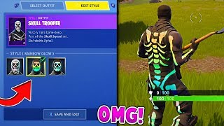 Testing out Rainbow Skull Trooper GLITCHES in Fortnite Battle Royale!