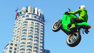 LONGEST BIKE FLIGHT EVER! (GTA 5 Funny Moments)