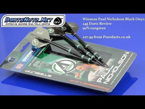 Winmau Paul Nicholson darts review 24g Black Onyx