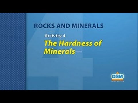 Rocks and Minerals - Activity 4: The Hardness of Minerals