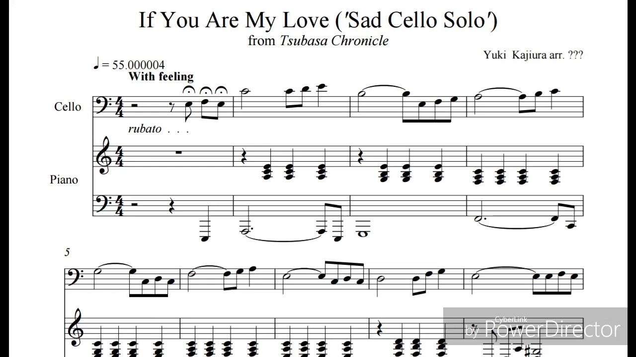 If You Are My Love Sad Cello Solo Youtube