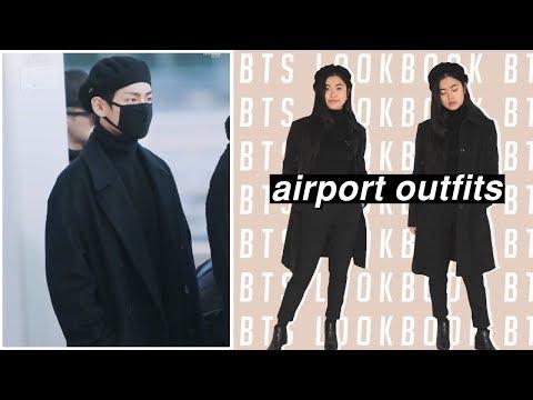Bts Lookbook 2019 Recreating Bangtan Boys K Pop Airport Inspired Outfits Youtube