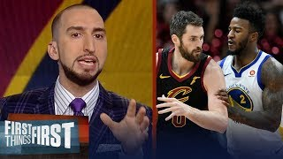 Nick Wright on Cavs doubting their title chances against Warriors | FIRST THINGS FIRST