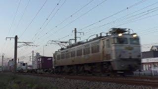 【JR貨物】2088レ EF81-303 銀釜