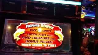 Multimedia Games OFF THE HOOK Free Spin bonus round  slot machine