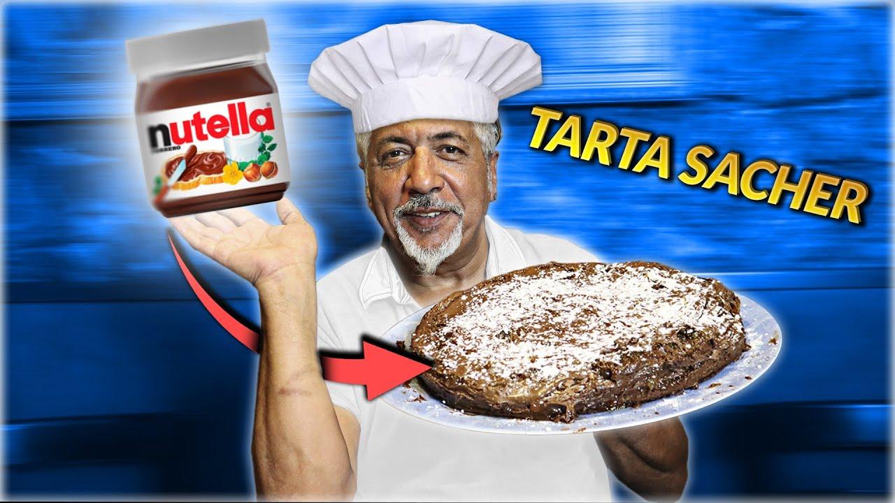 TARTA SACHER de NUTELLA en CASA | Pino Prestanizzi