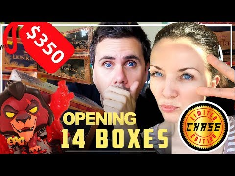OPENING 14 BOXES Of Lion King Hot Topic Funko Boxes! $330 Gamble For A CHASE!