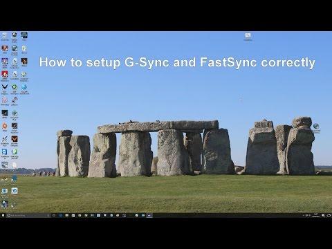 How to setup GSync and Fastsync correctly