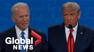 U.s. president donald trump and democratic challenger joe biden met for the second last time on a debate stage thursday after previously scheduled town...