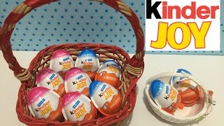 5 Kinder Joy Eggs (for girls). Egg Surprise and cute toys!