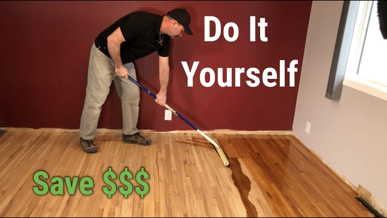 How To Sand Amp Refinish Hardwood Floors Youtube