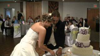 J&J VIDEO PRODUCTIONS-CLEVELAND OHIO, 440-845-2122,  BRIDE AND GROOM, THE CAKE CUTTING