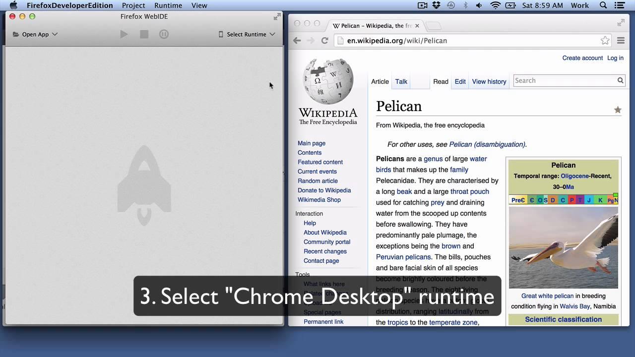 Remotely debugging Chrome Desktop - Firefox Developer Tools