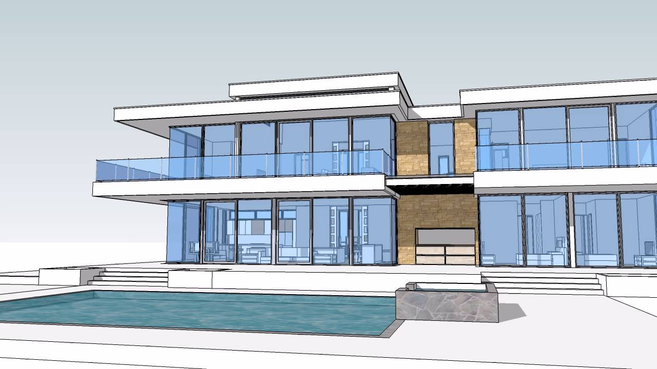 $13 Million Dollar Glass Home design and floor plan
