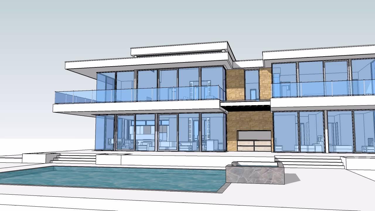 $13 Million Dollar Glass Home design and floor plan