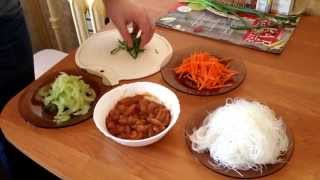 Быстрый рецепт приготовления фунчозы с курицей дома! Быстро и очень вкусно! (KirillBiz)