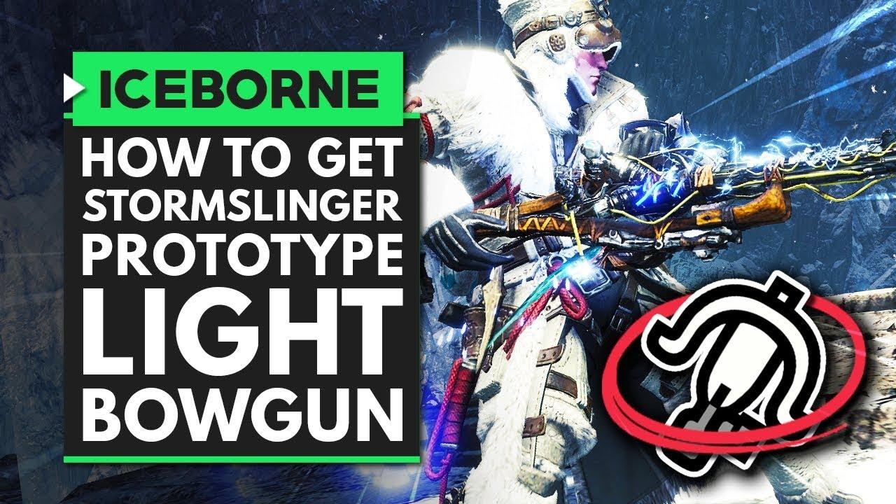 Monster Hunter World Iceborne | How to Get the New STORMSLINGER PROTOTYPE Light Bowgun thumbnail