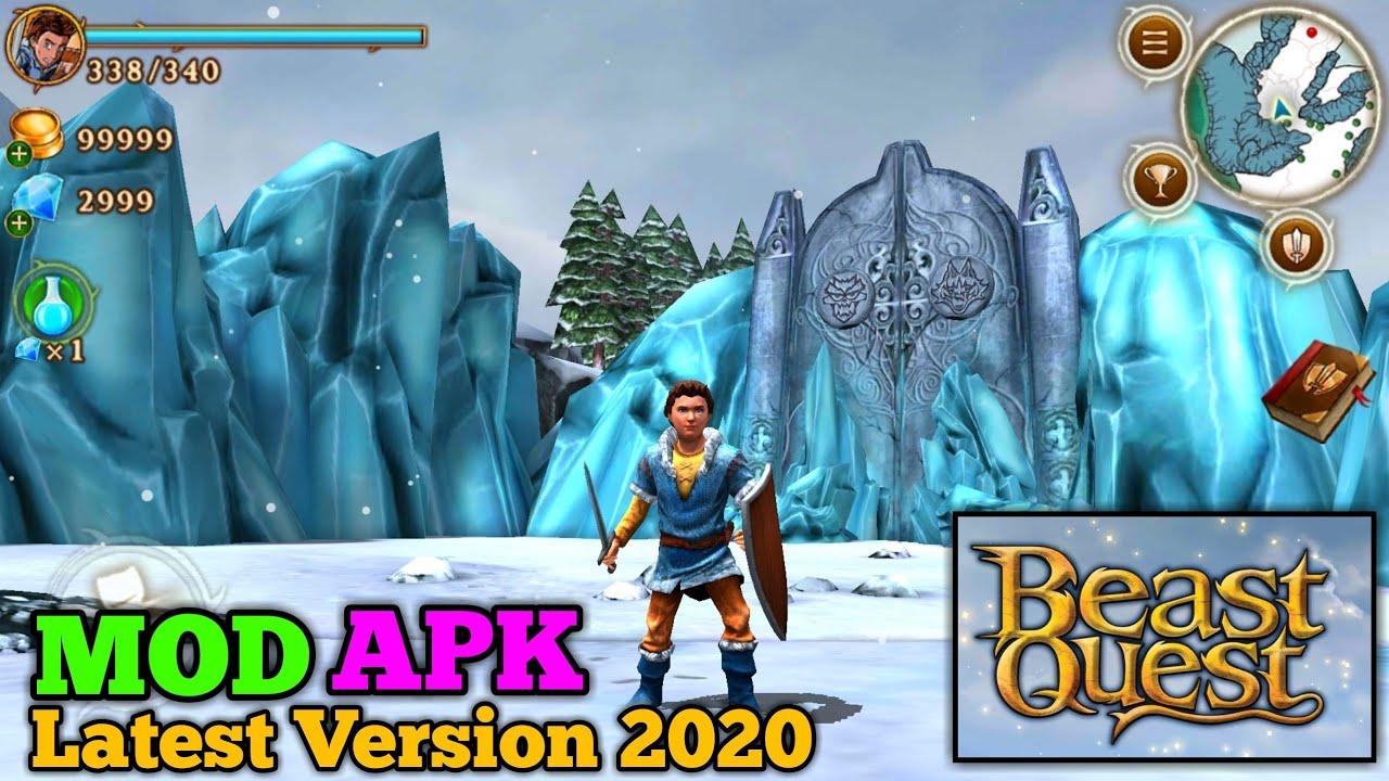 beast quest v161 mod apk  unlimited coins  gems  open