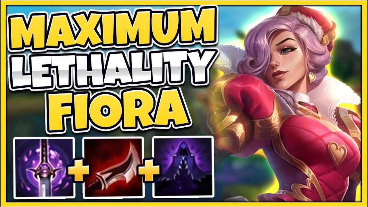 This 100 Lethality Fiora Build Hits Like A Truck No One Can Fight You League Of Legends Youtube