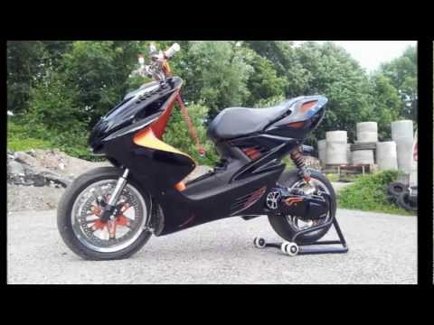 yamaha aerox herbo tuning story review power sound bilder stage 6 r t 70ccm high end youtube. Black Bedroom Furniture Sets. Home Design Ideas