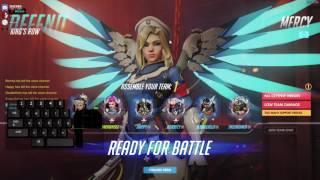 Mercy Gameplay With Keystroke Input