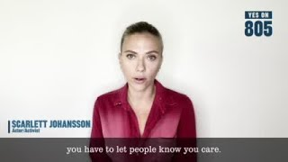 Actress Scarlett Johansson Announces Support For Oklahoma State Question 805