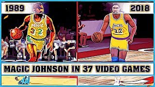 MAGIC JOHNSON, the evolution in Video Games [1989 - 2018]