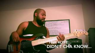 fender deluxe active jazz bass v erykah badu didn t cha know bass cover