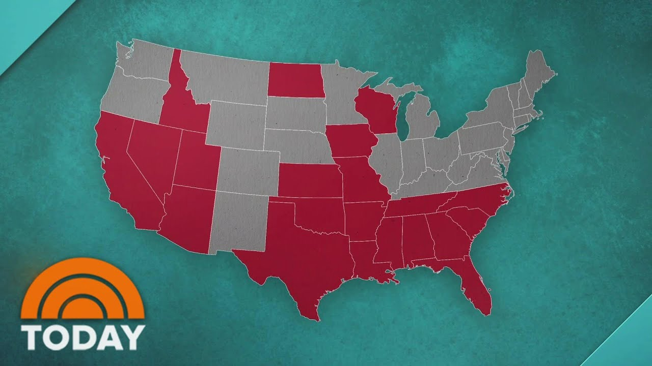 21 States Are In Coronavirus Red Zone As Us Death Toll Passes 150 000 Today Youtube
