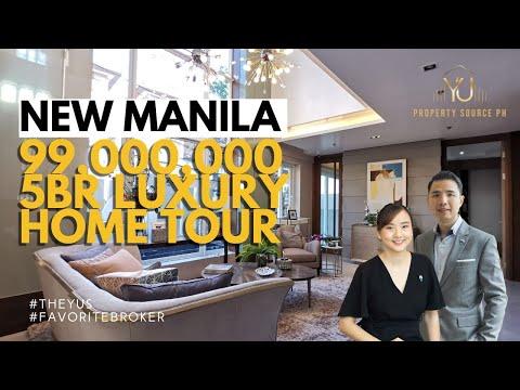 5BR Luxury New Manila Home Tour with Elevator 6 Car Underground Parking! #TheYUs #FavoriteBroker