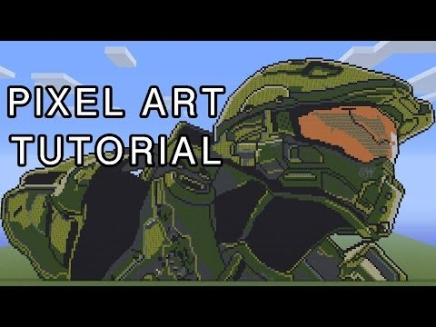 Minecraft Pixel Art Tutorial - Master Chief Halo 4