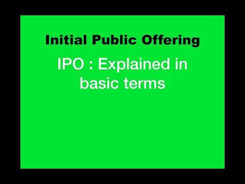 What is IPO ( Initial Public Offering ): Explained in Simple Terms