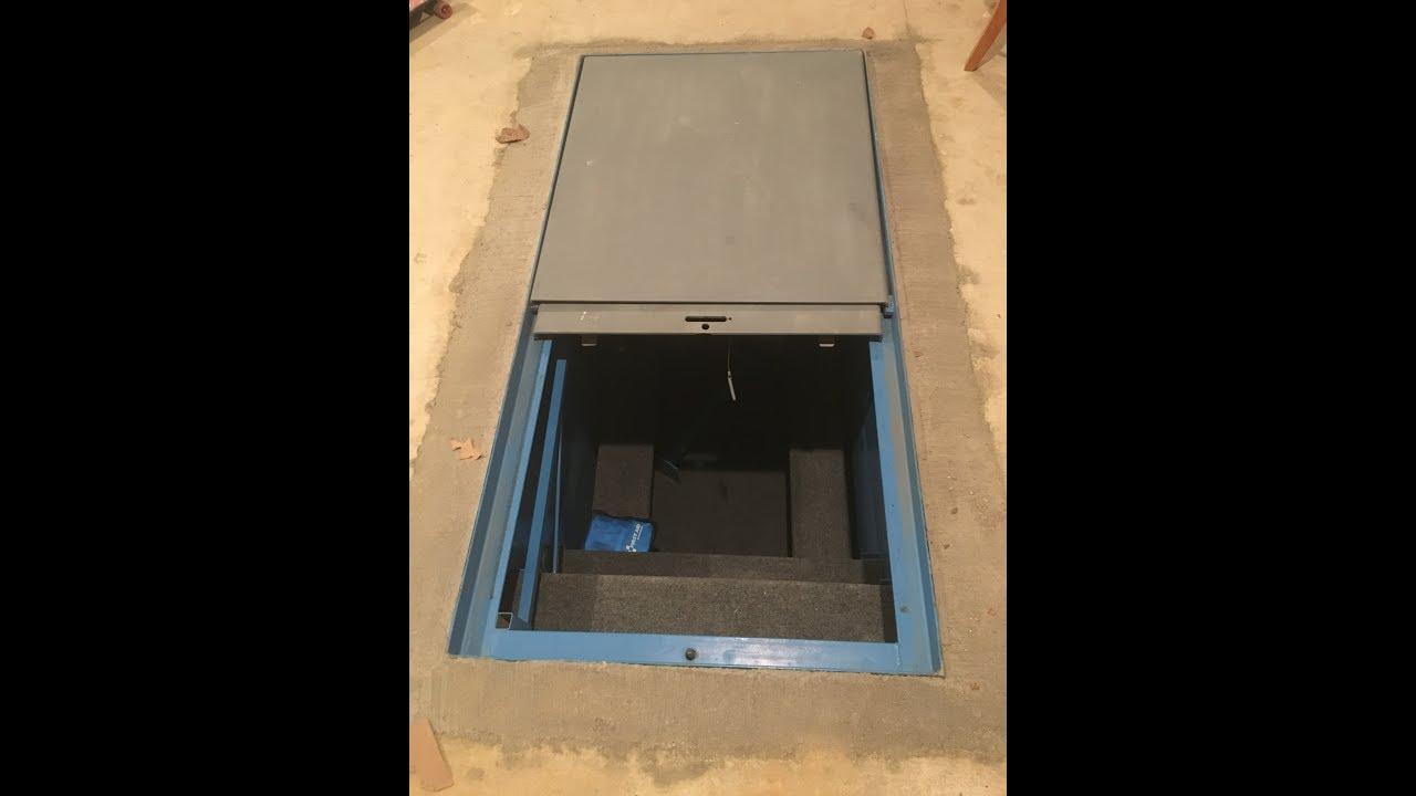In Ground Garage Tornado Shelter By Torshel Youtube