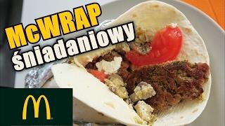 Jak zrobić wrap śniadaniowy z jajecznicą z pieczarkami i mięsem. Tortilla ala McWrap