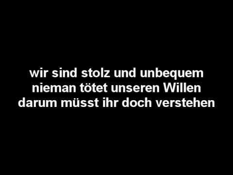 Böhse Onkelz - Lieber stehend + Lyric