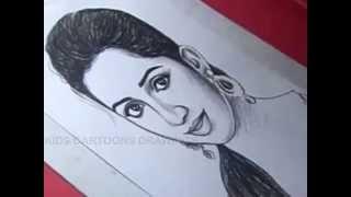 How to Draw SINGER SHREYA GOSHAL Drawing