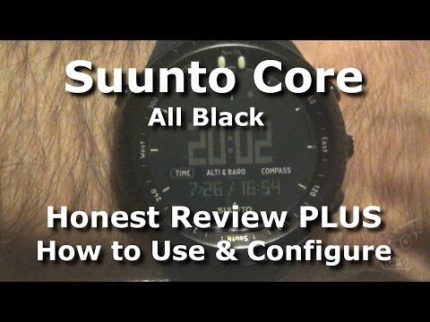 Suunto Core All Black ABC Watch - Honest Review and Setup Ti