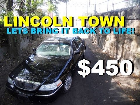 $450 Junkyard Lincoln Town Car ( !st drive with BAD TRANS )