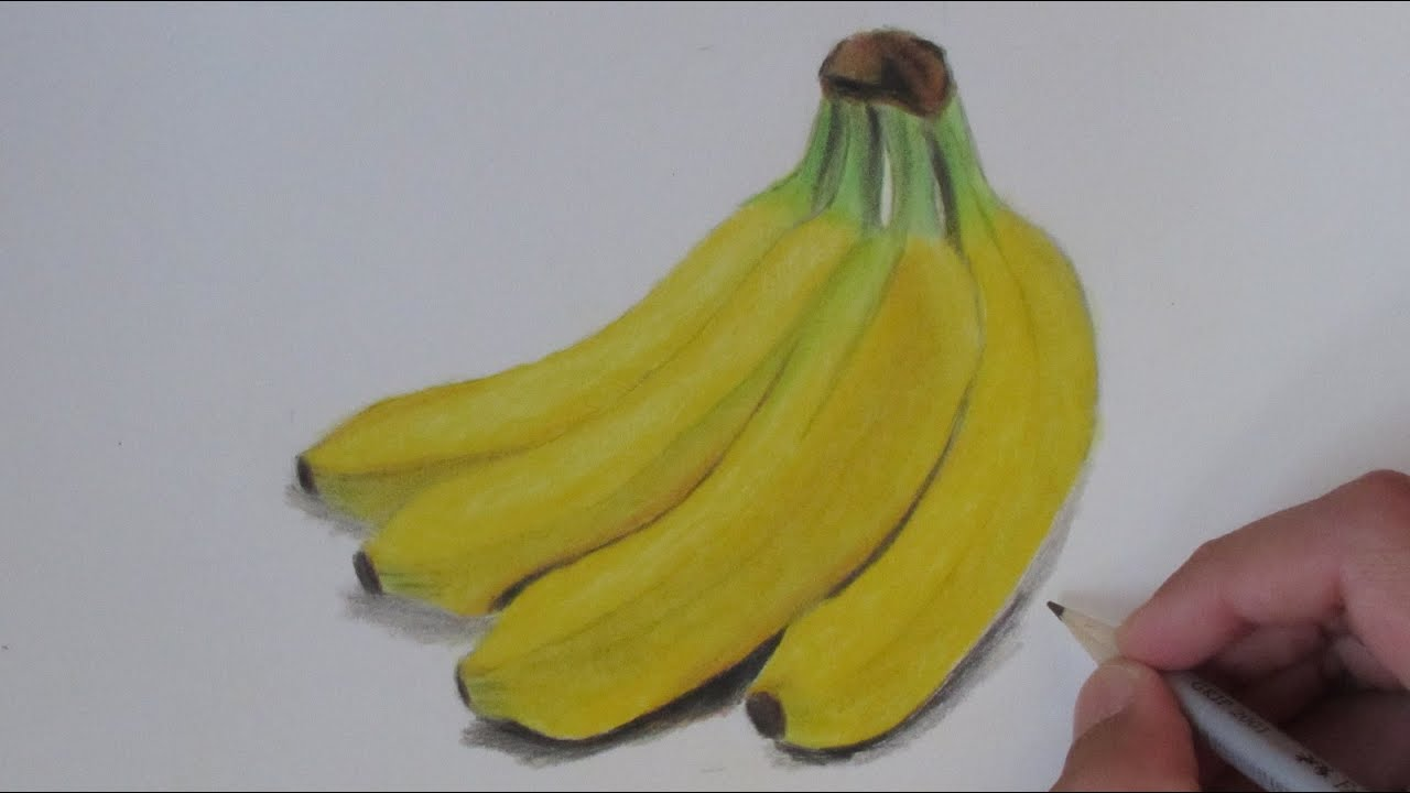 Realistic Banana Speed Drawing