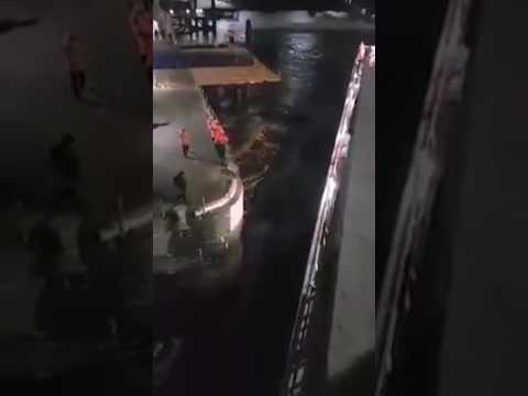 Passenger ferry crashed due to high winds