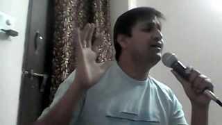 Singing on karaoke - Phoolon Ke Rang Se
