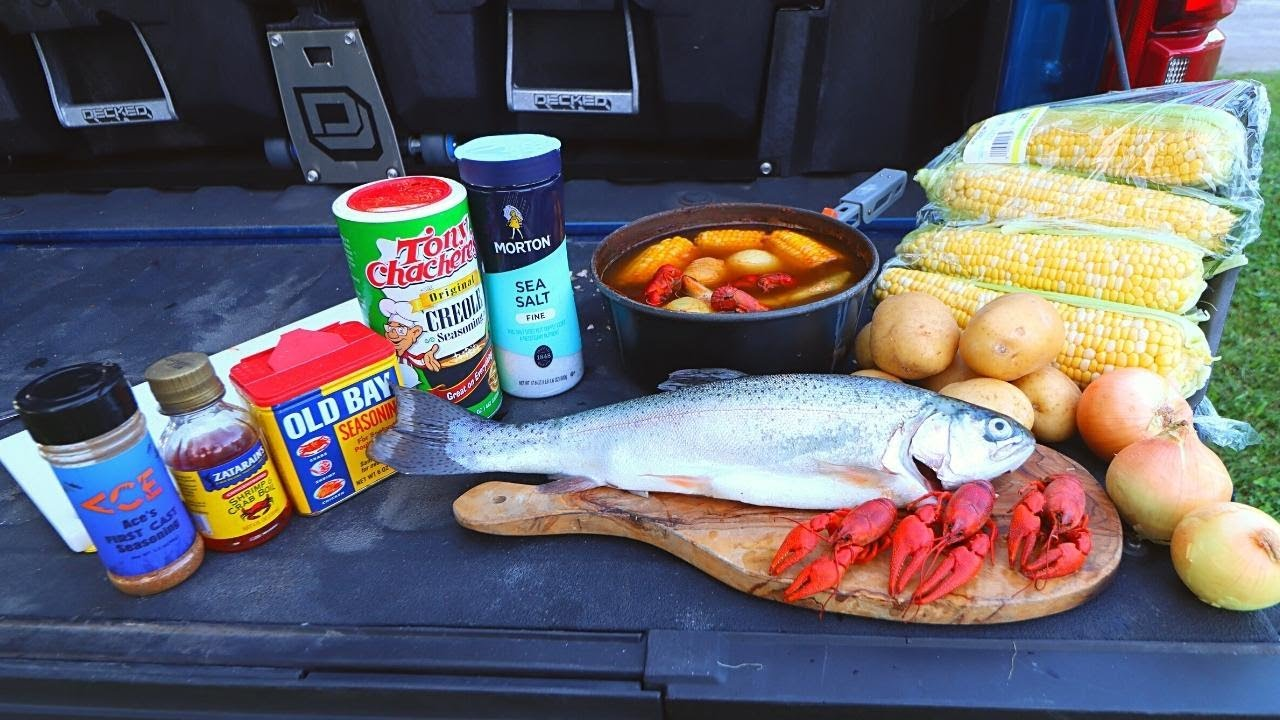 CRAWFISH Boil and TROUT Cookout at the River!