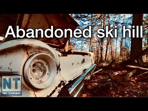 Metal Detecting & Exploring Lost Ski Hill NH Not Thursday #92 Abandoned New Hampshire Forest